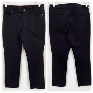 Talbots Heritage Straight Black Jeans 12P NWT
